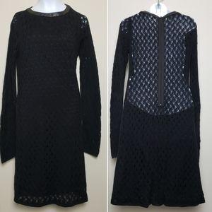 Diane Von Furstenberg Fitted Crochet Dress